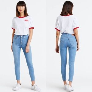 Levi's Mile High Super Skinny Jeans Button Fly